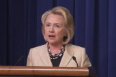 Hillary Clinton backs President Obama on...
