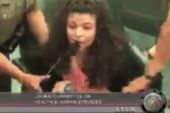 Texas woman ejected from abortion debate