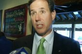 Santorum invades Colbert race