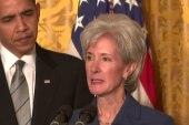 HHS Sec. Kathleen Sebelius resigns