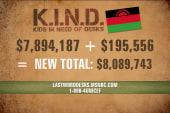The generosity you've shown the K.I.N.D Fund