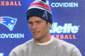 Brady's footballs & goofy hat