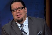 Penn Jillette playing the role of Lawrence...