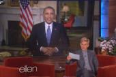 Obama visits Ellen