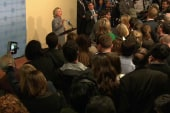 Press frenzy met by uniquely prepared Clinton