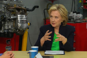 Clinton takes liberal tack on dark money