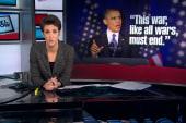 Obama indicates beginning of end of war on...
