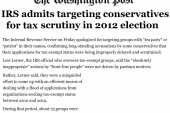 IRS admits improperly targeting tea party...
