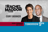 Cory Booker to talk with Maddow Tuesday