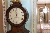 Storied Senate clock stops for shutdown