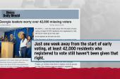 40,000 voter registration forms gone missing