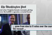 Democrats win Virginia Senate by 11 votes