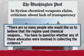 Twice shy skeptics object to Syrian...