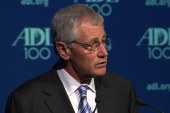 Hagel slams unequal treatment of gay families