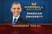 President Obama joins Chris Matthews Thursday