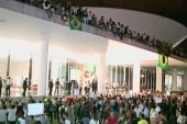 Brazil's 'day off' from protests marked by...