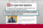 Ferguson officer appears before grand jury