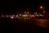 Relative quiet in Ferguson as night falls