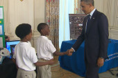Young science minds impress at White House