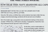 Navy to stop shouting official communications