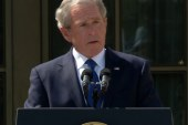No mention of Iraq in Bush library speech