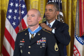 Medal of honor awarded to Staff Sgt. Ty...