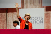 Sen. Warren draws distinction between parties