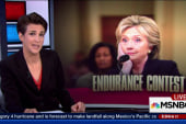 Clinton faces down GOP in endurance feat