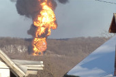 Fiery explosion as another oil train derails