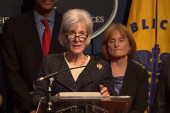 Sebelius exit steps on Obamacare good news