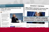 Clinton campaign announcement likely imminent