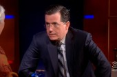 Colbert's politics a rarity on network nights