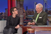 Rachel Maddow chats with David Letterman