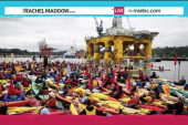 Protesters rally as Shell to probe Arctic