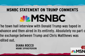 MSNBC: Trump interview aired in its entirety