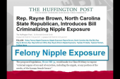 Today in criminal nipple exposure news
