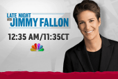 Rachel Maddow joins Jimmy Fallon Wednesday...