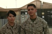 Married Marines serve together in Afghanistan