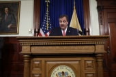 Scandal overshadowing Christie's address