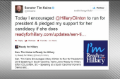 Tim Kaine endorses Hillary Clinton for 2016