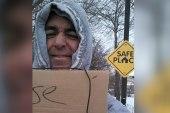 When a businessman dressed as a homeless man