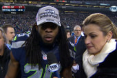 Seahawks star loses it after win
