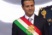 Protests delay Mexican president's...