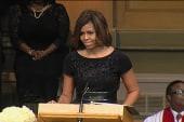 Michelle Obama speaks at Maya Angelou service