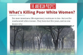 White women's life expectancy is going down