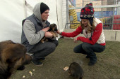 Olympians inspire puppy rescue mission