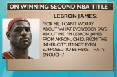 The greater meaning of Lebron's 'not...