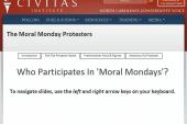 North Carolina's 'Moral Monday' protests...