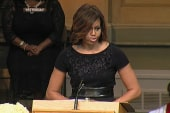 FLOTUS' touching moments at Angelou service
