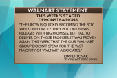 What Wal-Mart has to say about the protests